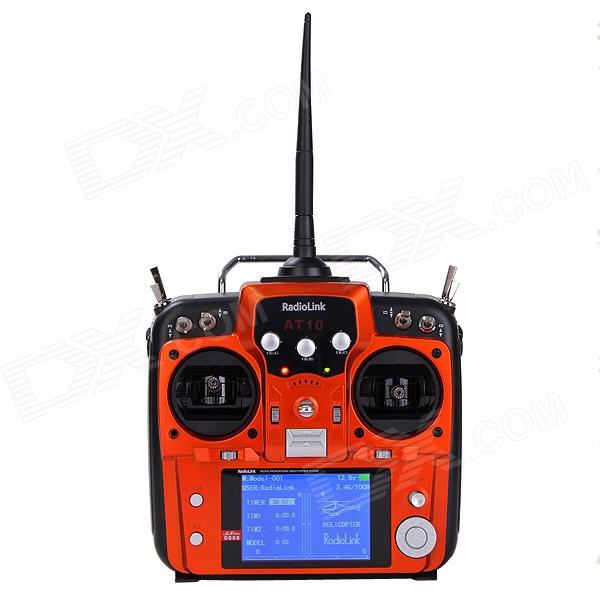 HJ AT10 3.5'' Screen 2.4GHz 10-CH Remote Control System w/ 10-CH Transmitter - Jacinth