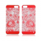 Angibabe 0.3mm Flower Vine Pattern Ultra Thin Acrylic + TPU Case for IPHONE 5 / 5S - Red