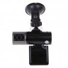 "DVR011D 2"" TFT + 0.8 LCD 2.0 MP Dual Camera Car Vehicle DVR Camcorder w/ 4-IR LED / G-sensor - Black"