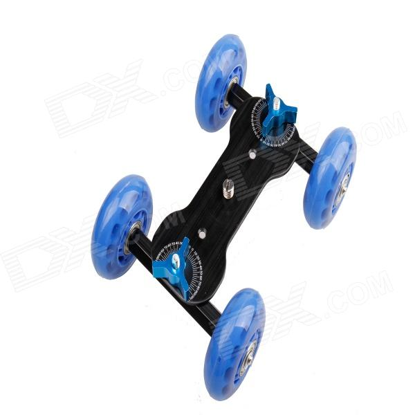 DEBO Camera Dolly w/ 1/4 Screw for DSLR Camera / Camcorder - Blue + Black