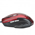 RONGQINGXIANG High Precision USB 2.0 1200dpi 6-Key LED optique filaire Gaming Mouse - noir + rouge