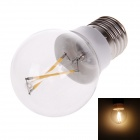 QIGUAN K309 E27 3.6W 360lm 3200K Warm White 2-LED Filament Bulb - Transaprent + White (AC 220V)