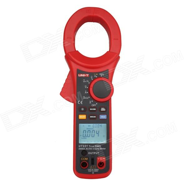 UNI-T UT221 Handheld 2 LCD Digital Clamp Multimeter - Red + Dark Grey yes yes relayer cd dvd