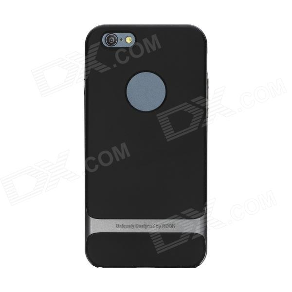 "ROCK RK-ip6R Royce Series Protective PC + TPU Back Case for 4.7"" IPHONE 6 - Iron Grey"