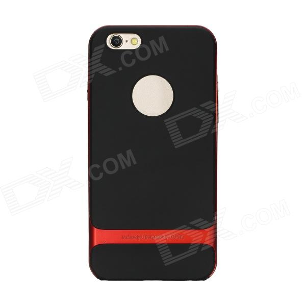 ROCK RK-ip6R Royce Series Protective PC + TPU Back Case for 4.7 IPHONE 6 - Red + Black rock royce series protective case for iphone 5 5s se