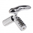 Hand-operated Rolling Type Body Massager Beauty Instrument - Silver