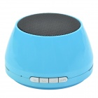 S18 Portable Bluetooth 3.0 Stereo Mini Speaker w/ TF / FM / Micro USB / AUX for IPHONE + More - Blue