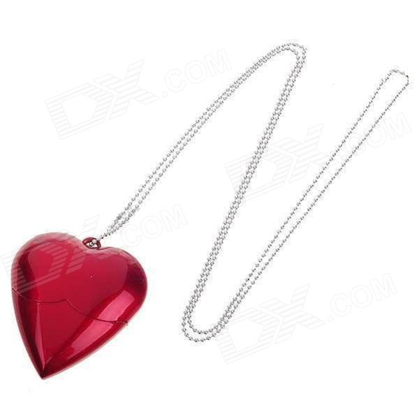 Heart Shaped USB 2.0 Flash Disk Necklace - Red (8GB)8GB USB Flash Drives<br>Form  ColorRedCapacity8GBBrandOthers,N/AModelAX-520MaterialABSQuantity1 DX.PCM.Model.AttributeModel.UnitShade Of ColorRedMax Read Speed6Mb/sMax Write Speed3Mb/sUSBUSB 2.0With IndicatorYesPacking List1 x USB flash drive1 x Chain (80cm)1 x Gift box<br>