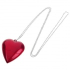 Heart Shaped USB 2.0 Flash Disk Necklace - Red (8GB)