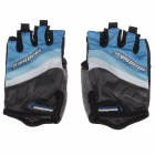 Mad Bike SK-02 Anti-Slip Half-Finger Bicycle Riding Cycling Gloves - Blue + Black + White (Size L)