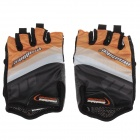 Mad Bike SK-02 Anti-Slip Half-Finger Bicycle Cycling Gloves - Orange + Black + White (Size XL)