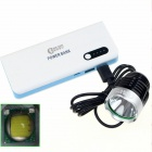 "CXHEXIN B5V-T6 680lm 3-Mode Bicycle Headlamp w/ Cree XM-L T6 + ""16800mAh"" Power Bank - Black"