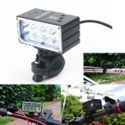 VICMAX 360-A8 2800lm 3-Mode White Bicycle Headlamp w/ 8 x Cree XM-L T6 - Black (6 x 18650)