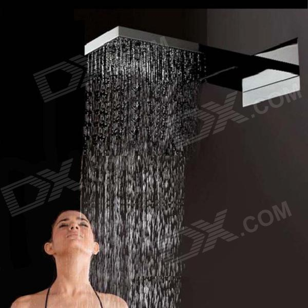 YDL-S-WB0041-2 22 Brushed 304 Stainless Steel Bathroom Shower Head - SilverShower Heads<br>Form  ColorSilverModelYDL-S-WB0041-2Material304 stainless steelQuantity1 DX.PCM.Model.AttributeModel.UnitShower HeadRainfallFinishBrushedNumber of handlesSingleShowerhead Dimension55.4 x 27 x 13cmInstallation Hole14Spout Height6.5 DX.PCM.Model.AttributeModel.UnitSpout Length22.5 DX.PCM.Model.AttributeModel.UnitStyleContemporarySpout Width17 DX.PCM.Model.AttributeModel.UnitOther FeaturesStandard 1/2 threadsPacking List1 x Shower head1 x Allen key2 x Hoses (30cm)2 x Filters4 x Colloidal particles12 x Screws12 x Screw rubber plugs<br>