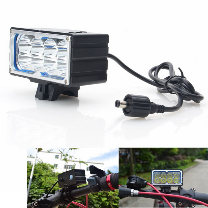 VICMAX A8 2800lm 3-Mode White Bicycle Light w/ Taillight, 8 x Cree XM-L T6 - Black (6 x 18650)