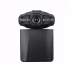 "2.5"" TFT 1.3 MP 1080P CMOS Vehicle Video Recorder / Camcorder DVR w/ SD / 6-LED - Black"