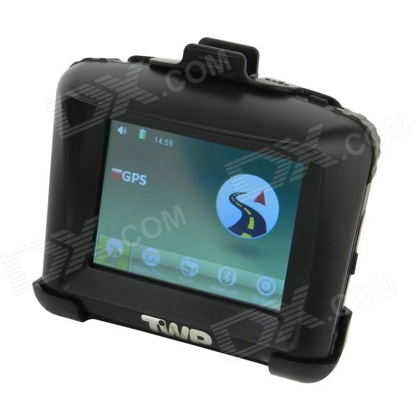 3.5 '' Resistive Touch Screen Waterproof Motorcycle GPS Navigator - Black