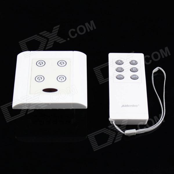 4-Way ON/OFF Digital Switch Controller For Light Lamp + 6-Key Remote Controller (AC190~250V) тушь активатор enprani enprani en008lwgox59