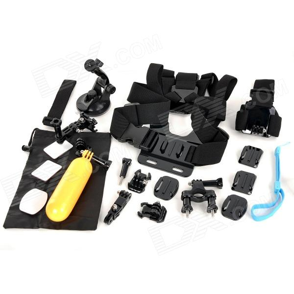 Mount Accessories Set w/ Chestbelt, Monopod + More for GoPro - Black