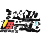12-in-1 Multifunctional Accessories w/ Chestbelt, Mount, Helmet Belt, Base + More for Gopro Hero