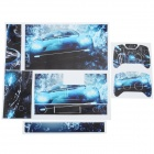 Car Pattern PVC Protective Sticker Set for XBOX ONE - Green + Deep Blue