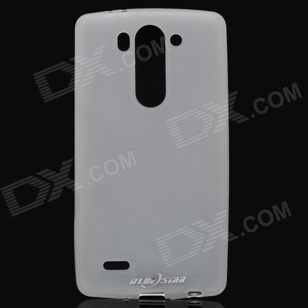 Protective PVC + TPU Case for LG G3 MINI - Translucent White protective silicone case for nds lite translucent white