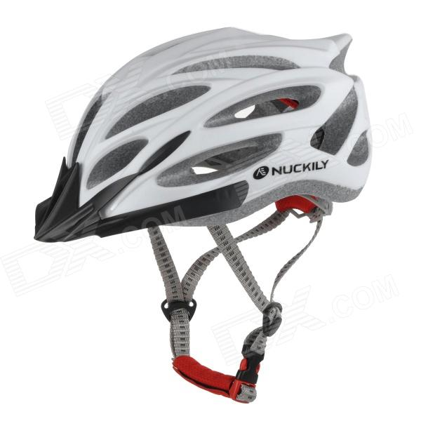 NUCKILY PB02 Fixed Gear Bike Bicycle Cycling Safety Helmet - Matte White
