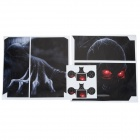 Skull Head Pattern PVC Protective Sticker Set for PS4 - Black