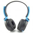 D-400 Bluetooth V3.0 Stereo Headband Headphone w/ Microphone / FM - Black + Blue
