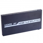 H18A Full HD 3D 1080P HDMI 1.3 4K x 2K 1 In 8 Out Splitter - Black