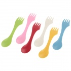Anya D534 Multi-functional 3-in-1 Knives / Forks / Spoons Set - Yellow + White (6 PCS)