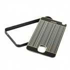 Protective Aluminum Alloy Bumper Frame w/ PC Back Cover for Samsung NOTE III - Black + Champagne