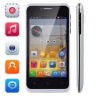 "Tiger S42 Android 4.2.2 Dual-Core WCDMA Phone w/ 4.0"" Screen, Bluetooth, Dual-Camera, GPS - White"