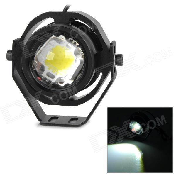 exLED 10W 12V 850lm 6000K LED White Light Motorcycle Headlamp - Black
