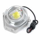 exLED High Brightness 10W 12V 850lm 6000K LED White Light Motorcycle Headlamp - Silver