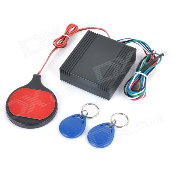 YH-8903 Motorcycle Anti-Thief ID Card Inductive Invisible Lock - Black + Red