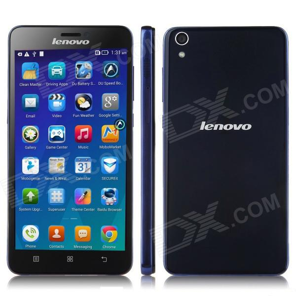 Lenovo S850 MTK6582 Quad-Core Android 4.4 WCDMA Bar Phone w/ 5.0 HD, 1GB RAM,16GB ROM, GPS - Blue m pai 809t mtk6582 quad core android 4 3 wcdma bar phone w 5 0 hd 4gb rom gps black