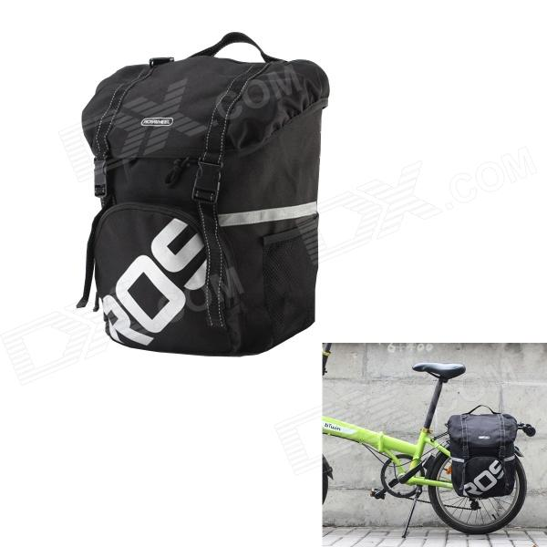 ROSWHEEL Ultralight Waterproof Side Shelf Package Bag for Bike - Black (15L)
