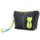 Animob A08-119 Fashionable PU Women's Cat Pattern Coin Purse / Mobile Phone Bag / Cosmetic Bag