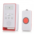 BY-3055JM Multi-functional Transmitter + Receiver Wireless Home Care Alert Alarm - White + Red