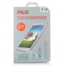 Premium 0.3mm Tempered Glass Clear Screen Guard Protector for Samsung Galaxy N7100 - Light Blue