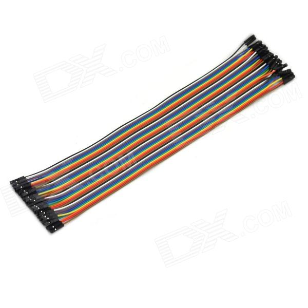 MaiTech 1p-1p Pin Header Dupont Lines (40 PCS Pack / 31cm Length)