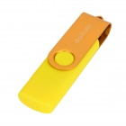 Ourspop SJ-20 Rotary USB 2.0 Flash Disk w / Micro USB - Amarelo + Ouro (32GB)