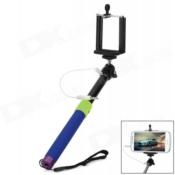 Self-Timer Pole w/ Remote Control Function + 3.5mm Audio Connection Cable for iOS / Android