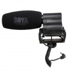 BOYA BY-VM02 Directional Video Condenser Microphone for Camcorders, SLR Cameras - Black