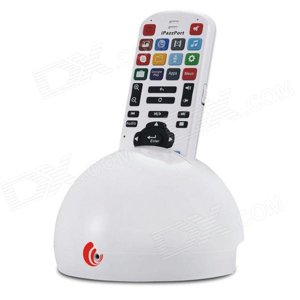 mini 2-in-1 stem TV afstandsbediening + draadloze dual-core Android 4.1 player set - wit