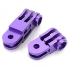 Three-dimensional Adjustable Zinc Alloy Connector for GoPro 3+ / 3 / 2 - Purple