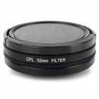 52mm CPL Lens + Adapter Ring + Lens Cover for GoPro HD Hero 3+ / 3 - Black