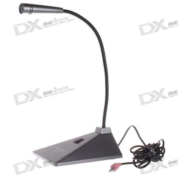 LY-772 Desktop Microphone with Flexible Neck (3.5mm Jack)