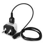 EU Plug Power Adapter + Data Charging Cable for Sony Xperia Z3 L55T / Xperia Z2 L50w - Black